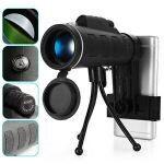 Telescope 40X60 HD Zoom lentille Pour Smartphone - Noir