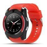 Smart Watch Smartwatch - V8 - Bluetooth - Caméra - Sim Carte - Rouge
