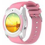 Smart Watch Smartwatch - V8 - Bluetooth - Sim Carte - Rose