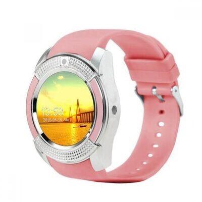 Smartwatch V8 Bluetooth Avec Sim Carte - Rose