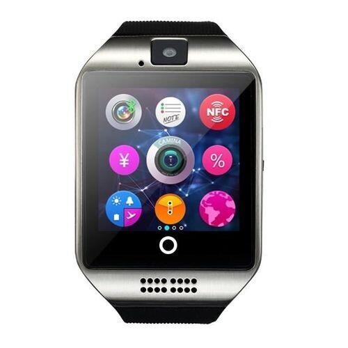 Smart Watch - Q18 Bluetooth Sim Cart - Silver