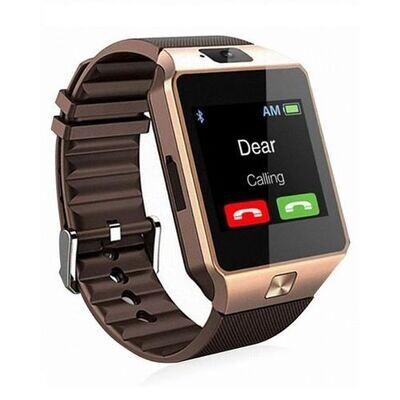 Smart Watch - Dz09  - Gold - 0