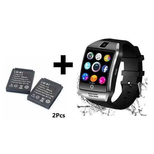 Smart Watch - Q18 Bluetooth Sim Cart - Noir + 2 Batterie