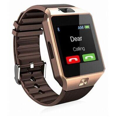 Reliance Smart Watch - Dz09 - Bluetooth - Carte Sim + Caméra - Gold