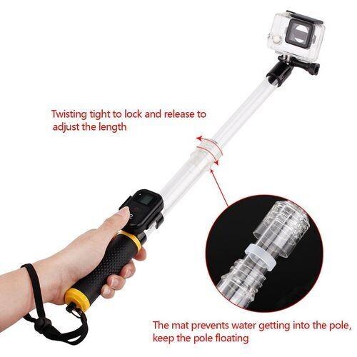 Perche Selfies Etanche  Pour Gopro 2,3,3+,4,5,6,7,8 Baton De Flotteur Transparent