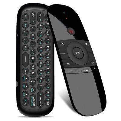 Mini Clavier W1 - Souris - Sans Fil 2.4G - Pour Smart Tv Android Box - Noir