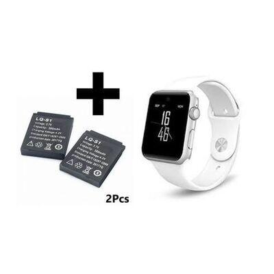 Smart Watch - A1 + 2 Batteries - Blanc