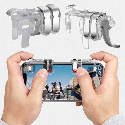 Battle Manette Pour Smartphone Pubg - Android / Ios - Transparant - Metal