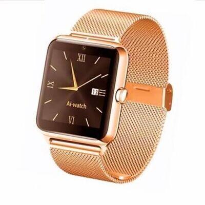 Smart Watch - Gt08  Metal - Bluetooth - Camera - Sim - Gold