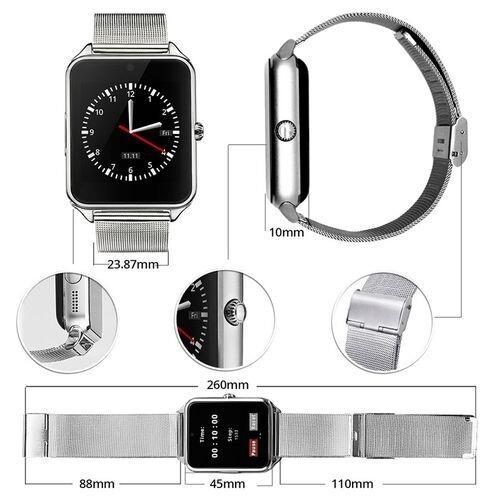 Smart Watch - Gt08 Metal - Bluetooth - Camera - Sim - Silver