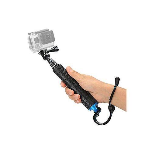 Perche Selfie Stick Télescopique Extension Aluminium Pole Pour Gopro - Noir
