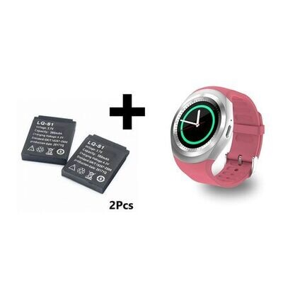 Smart Watch - Y1 - Bluetooth - Sim - Rose + 2 Batterie