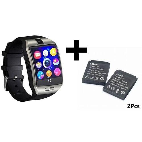 Smart Watch - Q18 Bluetooth Sim Cart - Silver + 2 Batterie