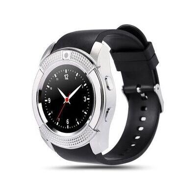 Smartwatch - V8 - Bluetooth - Caméra - Sim Carte - Silver