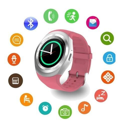 Reliance Smart Watch - Y1 - Bluetooth - Sim - Rose