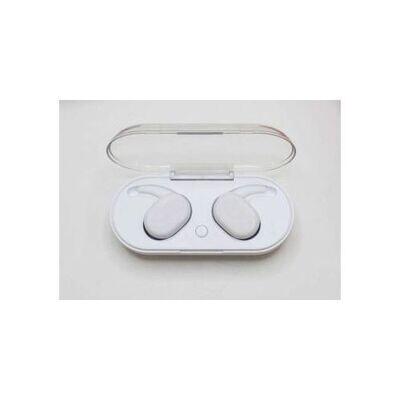 Mini Écouteurs - Sans Fil - Bluetooth 5.0 Avec Double Micro - Station De Charge - Blanc