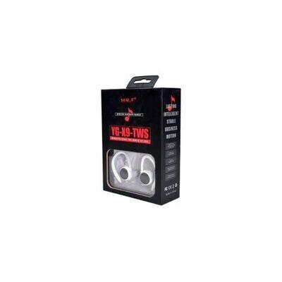 Ecouteur Bluetooth 5.0 YG-X9-TWS - Blanc-Noir