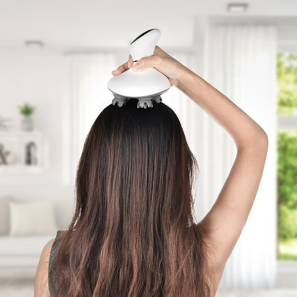 AGDOAD – masseur de cuir chevelu intelligent, dispositif de Massage de la tête sans fil, chargeur USB, relaxation du corps et du dos, pour prévenir la perte de cheveux