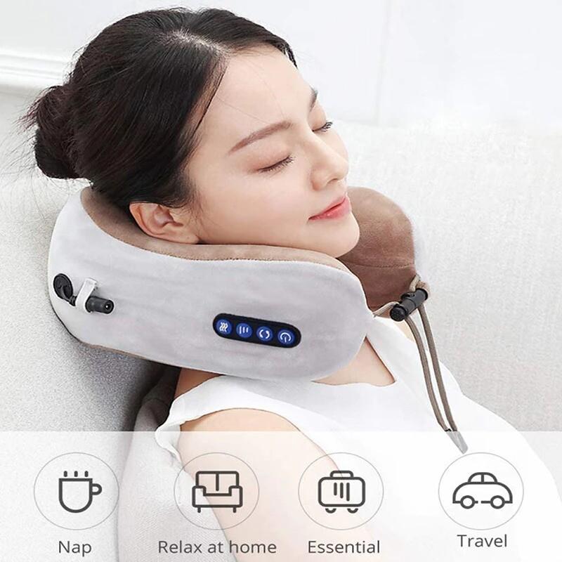 Masseur électrique de cou en forme de U, oreiller multifonctionnel Portable de Massage des épaules, cervicales, voyage, maison, voiture