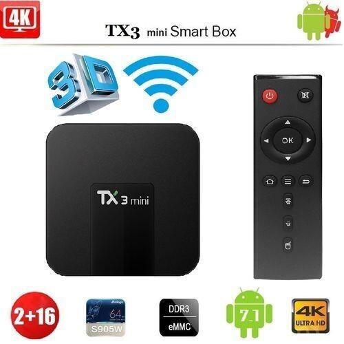 Tv Box - Tx3 Mini 4K 2Gb 16Gb - Noir
