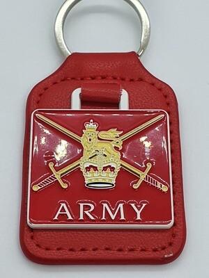 (MOD) British Army Leather keyring