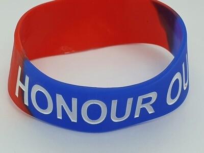 Honour Red/Blue Wrist band