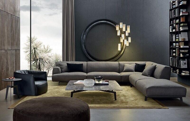 CROSBY 3 seater armless corner sofa