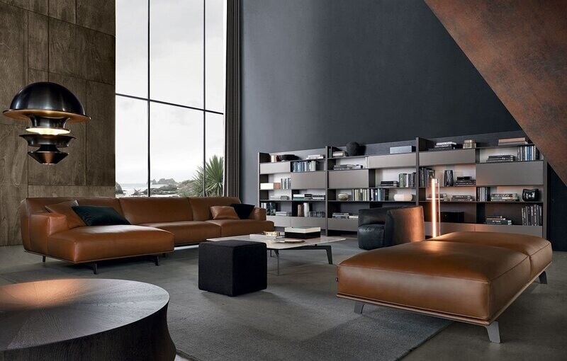 CROSBY 3 seater queene ottoman sofa