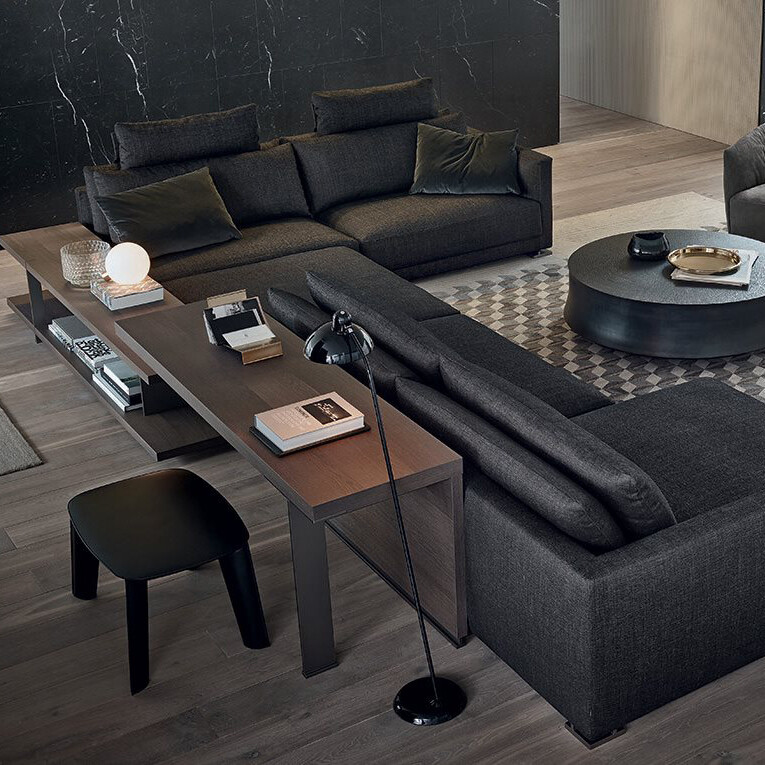 CROSBY 3 seater armless 1S queene ottoman sofa