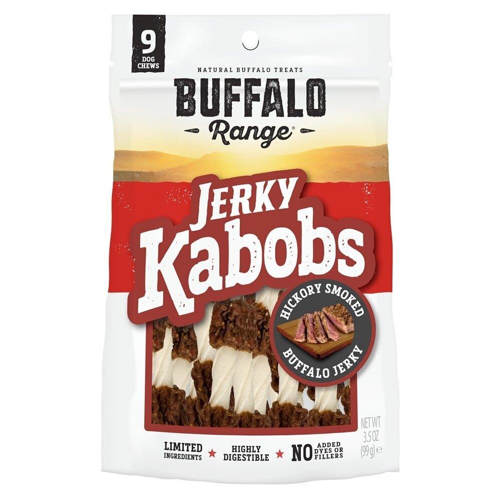 Buffalo Range Natural, Grain Free Jerky Kabob Rawhide Chews for Dog