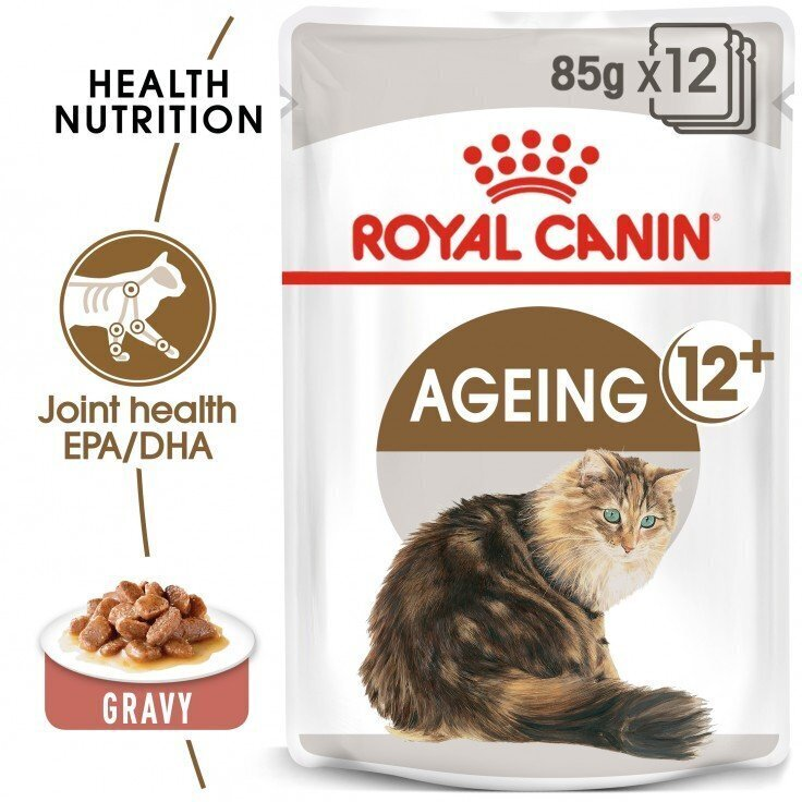 FELINE HEALTH NUTRITION AGEING +12 GRAVY (WET FOOD - POUCHES)