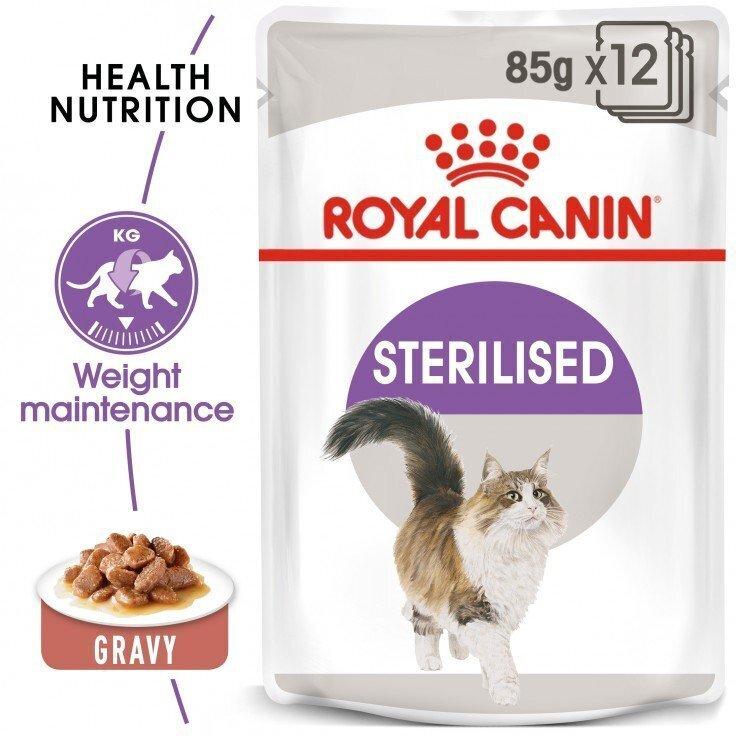 FELINE HEALTH NUTRITION STERILISED GRAVY (WET FOOD - POUCHES) 85 G