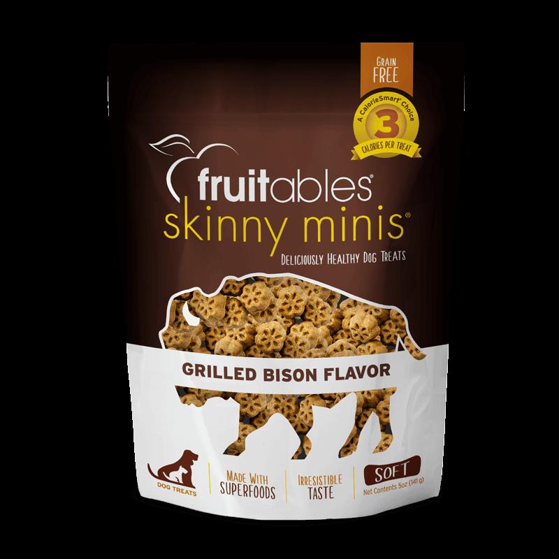 Fruitables Skinny Minis Dog Treats Grilled Bison 141 gr