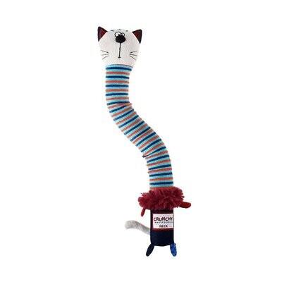 GiGwi Crunchy Neck 'Plush Friendz' Cat with Bone & Squeaker – Small