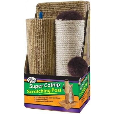 """Four Paws Sisal & Carpet Cat Scratcher, 20"""" 20"""" Inches"""