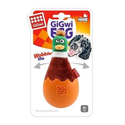 GiGwi EGG Wobble Fun Brown Duck – Medium