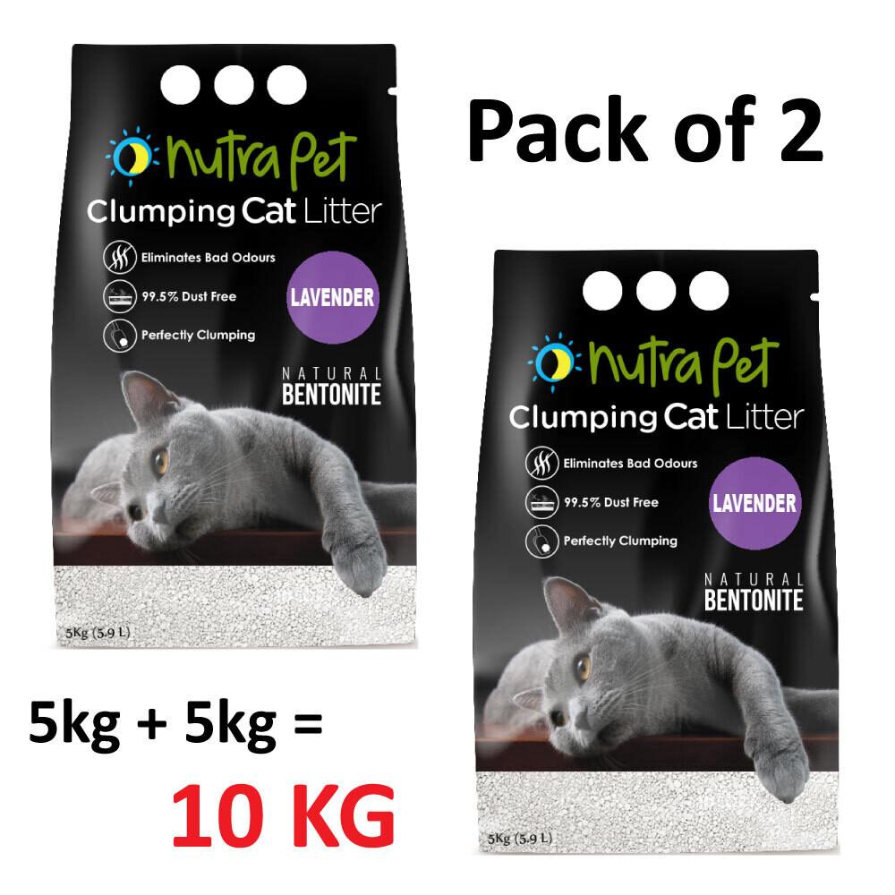 Nutrapet Lavender White Compact Cat Litter 5KG (PACK OF 2)