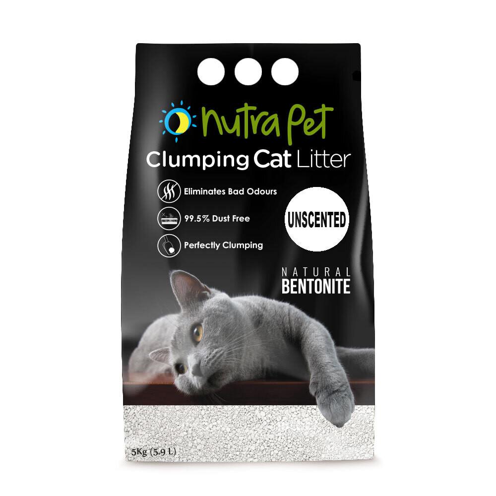 Nutrapet Natural White Compact Cat Litter 5KG