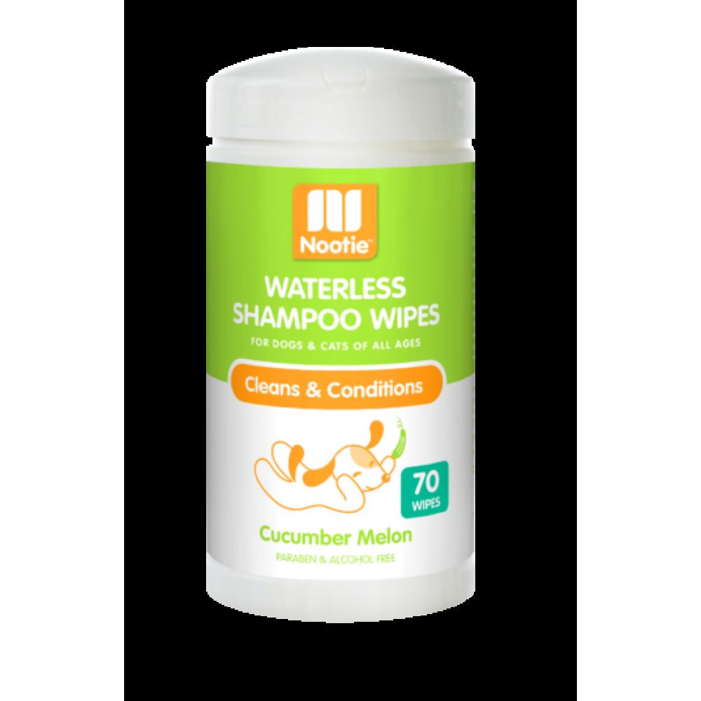 Nootie Waterless Shampoo Wipes – Cucumber Melon 70 Count