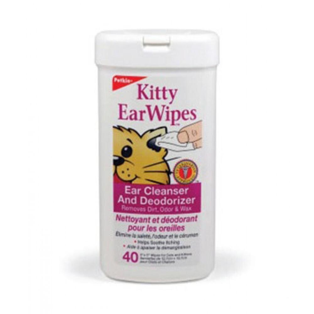 Petkin Kitty Ear Wipes