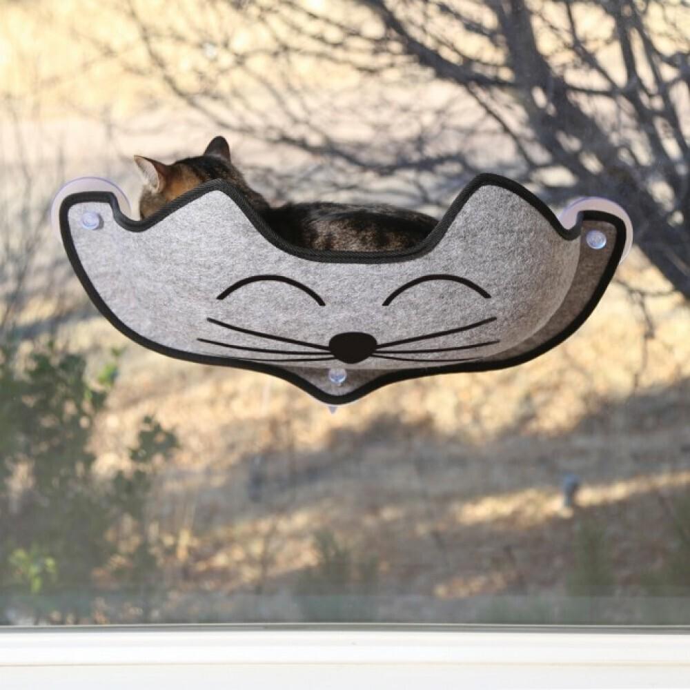 "K&H EZ Mount Kittyface Window Bed Gray 27""X11"""