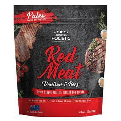 Absolute Holistic Air Dried Dog Treats - Red Meat 100g