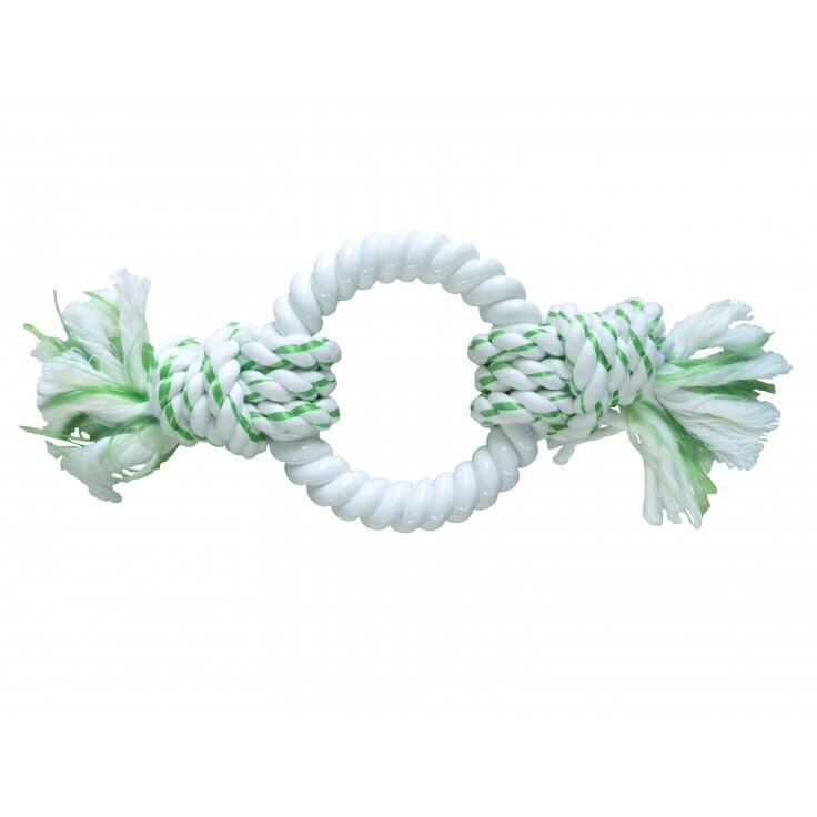 DENTAL ROPE WITH NYLON RING - GREEN (PACK OF 4)