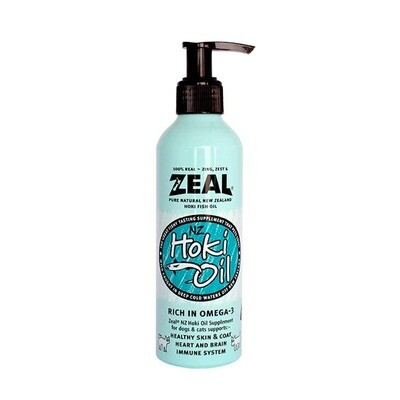 Zeal Natural Hoki Fish Oil Supplement for Cats & Dogs (225ml)