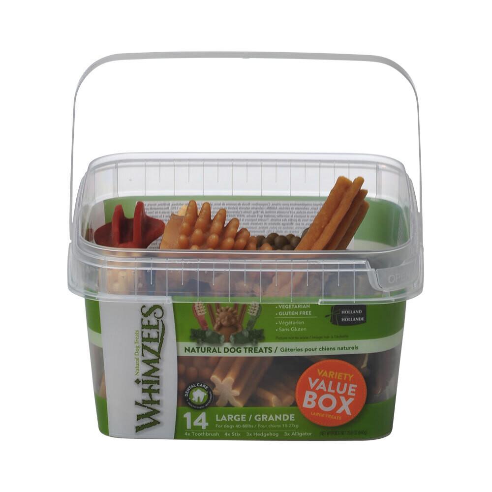Whimzees Variety Value Box Large 14 pcs