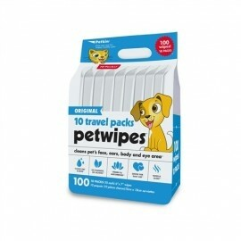 PETKIN Travel Pack Pet Wipes- 100 Ct
