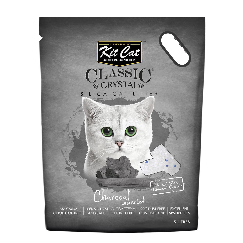 Kit Cat Classic Crystal Cat Litter – Charcoal (5 Litres)