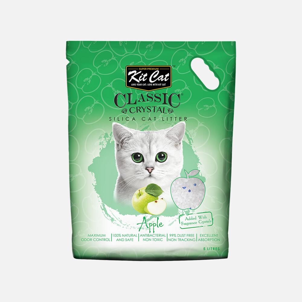 Kit Cat Classic Crystal Cat Litter – Apple (5 Litres)