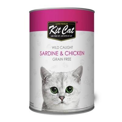 Kit Cat Wild Caught Sardine & Chicken Wet Food 400g