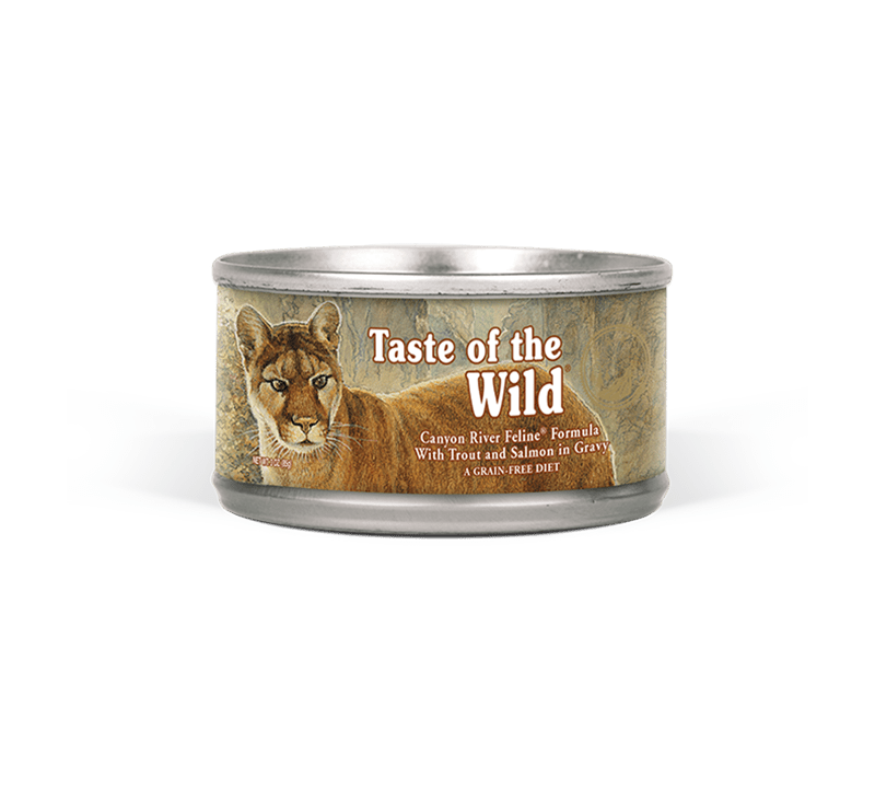 Canyon River Feline Recipe Wet Cat Food with Trout & Smoked Salmon 85g
